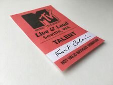 Repro NIRVANA MTV Live Loud Ticket STICKER Kurt Cobain signed PRINTED autograph