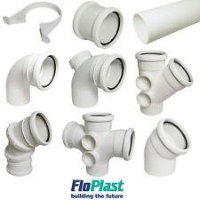 """FLOPLAST"" 110mm White Soil Pipe and Fittings Bend, Socket, Branch, Vent, Boss"