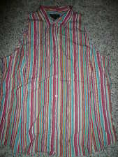 Ann Taylor ladies size 14 striped sleeveless top