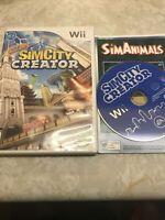 👉SimCity Creator (Nintendo Wii, 2008) Free Shipp Canada 🇨🇦