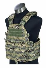 FLYYE LT6094 LBT Plate Carrier MOLLE Vest – AOR2 Woodland Camo Navy Seal