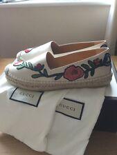 BNIB GUCCI Embroidered Espadrilles Shoes Flats Size 5UK 38EU