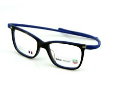 RARE Authentic REFLEX TAG HEUER Havana Blue EYE Glasses Frame TH 3012 003