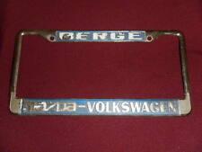 Berge dealership license plate frame Mazda Volkswagen VW metal tag embossed
