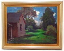 Eliot Clark, American/ Virginia Landscape Artist of South Artist Studio Close up