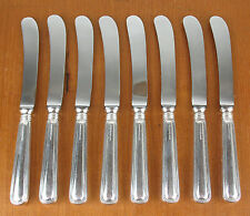 8 x Butter Knives Birks Regency Plate York silverplated hollow handle silver