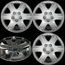 "4 New 2003-2016 Toyota Corolla 15"" Wheel Covers Full Rim Hub Caps w/ STEEL CLIPS"