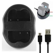 USB Dual Battery Charger For MH-18a EN-EL3e Nikon D700 D300 D200 D100 D80 Camera