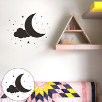 KQ_ FP- AG_ KF_ Moon Star Cloud Wall Sticker Kids Bedroom Home Holiday Decal Dec