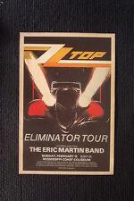Z.Z. Top 1984 poster Biloxi Mississippi Eliminator tour