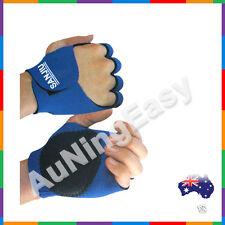 Rock Climbing Cycling Gel Bike Sport Half-Finger Gloves Braces support blue B