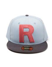 OFFICIAL POKEMON TEAM ROCKET 'R' LIGHT BLUE/GREY SNAPBACK CAP (BRAND NEW)