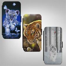 Teléfono Abatible Billetera Tigre Arte Animal Funda Para IPHONE SAMSUNG HUAWEI