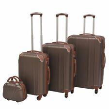 vidaXL Harde Rolkofferset Bruin 4-delig Koffer Set Koffers Reiskoffer Bagage