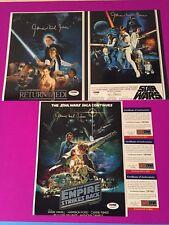 James Earl Jones Star Wars Lot (3) 8x10 Photo Signed Auto PSA/DNA COA