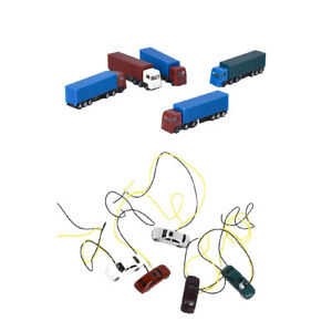10pcs Painted Model Cars Truck Building Train Layout Scale Z 1:200