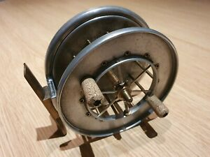 "Allcocks Aerial Popular 4"" Centrepin Fishing Reel Very Good Condition"