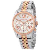 MICHAEL KORS NEW MK5735 Lexington Chronograph Tri-Tone Ladies Wrist Watch
