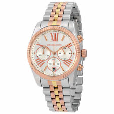 MICHAEL KORS NEW MK5735 Lexington Chronograph Tri-Tone Ladies Wrist Watch