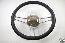 "14"" Chrome Aluminum Steering heel VINTAGE GM Chevy Custom Half Wrap 14 inch"