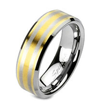 Tungsten Band Ring By Spikes Size 5