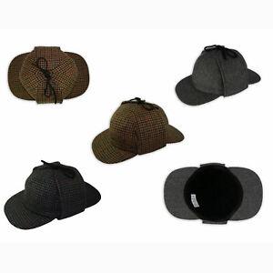 Pasquale Cutarelli Mens Deerstalker - Sherlock Holmes Hats Caps Size S M L XL