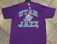 XXL NWOT NEW Deadstock Vintage NBA Utah Jazz NBA T-Shirt TShirt Logo 7 Tee 90's