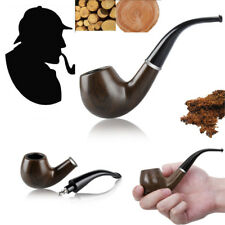 Durable Wooden Wood Enchase Smoking Pipe Tobacco Cigarettes Cigar Gift Free Ship