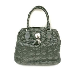Christian Dior Hand Bag  Black Nylon 1727501
