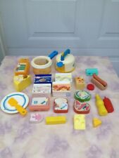 Vintage Fisher Price Play Food  Whistle Tea Kettle Soup Pan