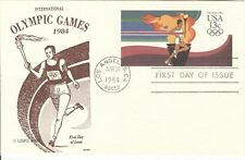 US Olympische Spiele Olympic Games 1984 Torch Stationery GAMM with first day