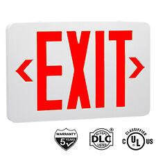 Red Led Emergency Exit Light Sign Ac 120v277v Led Lamp Abs Fire Resistance Ul
