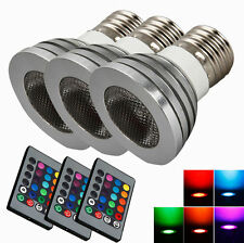Lot3 5W Home Safe Spot Light Bulb Lamp Color Changing RGB Remote Control E27 OY