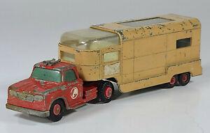 "Vtg Matchbox King Size Dodge Articulated Horse Truck 6.5"" Diecast Scale Model"