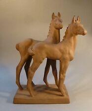 Art Deco Keramik Tier Figur Fohlen Pferd Karlsruhe Else Bach 4839 groß 39cm hoch