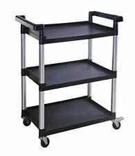 3 Shelf Utility Plastic Cart With Wheels Maximum Capacity Plastic Material