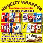 AGE Chocolate Bar Wrapper Novelty Joke Funny Gift Birthday 18th 21st 30th 40th