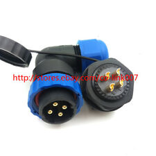 4pin Waterproof Connector SD20 Right Angle IP67 Power Cable Plug LED Connector