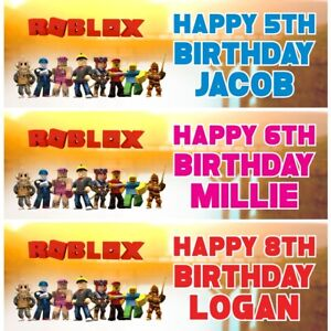 2 Personalised Roblox Birthday Banners Party Celebration Decoration Posters