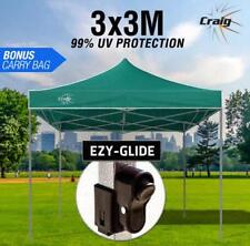 Green 3x3m Outdoor Gazebo Marquee Shade Folding Tent Pop Up Canopy Waterproof