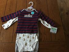 Carter's 12 Month Boys 3 Piece Monkey Outfit NWT With Monkey On The Bum