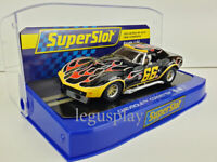 Slot Car Scalextric Superslot H4107 Chevrolet Corvette No.66 Flames