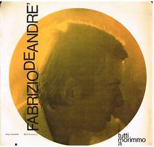 Fabrizio De Andre': Tutti Morimmo  a Stento - LP  Edizione Del 1970