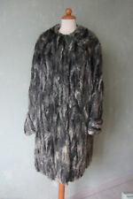 Pelzjacke grautöne lang hochwertig Größe 40 L / 42 XL