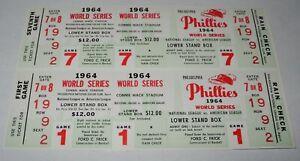 Vintage 1964 Philadelphia Phillies Phantom World Series Game 1 & 7 Full Ticket