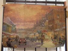 Thomas Kinkade Fiber Optic Wall Hanging-Christmas on Main Street-NEW