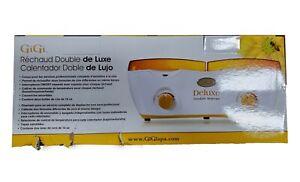 GiGi Deluxe Double Hair Removal Wax Warmer, 14 oz Dmg Box