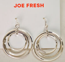 Nordstrom Joe Fresh Women's Silver Circle Triple Hoop Earrings Fashion Jewelry