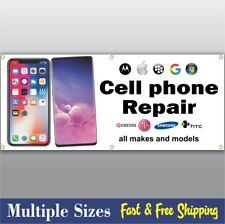 CELL PHONE REPAIR BANNER sign computer tablet iphone x 001