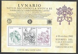 VATICAN -1982 The 400th Anniversary of the Gregorian Calendar - MUH MINI.SHEET.